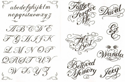 writing fonts for tattoos