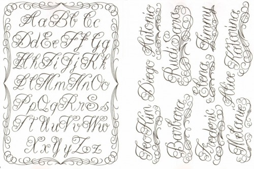 Free tattoo script fonts 2014